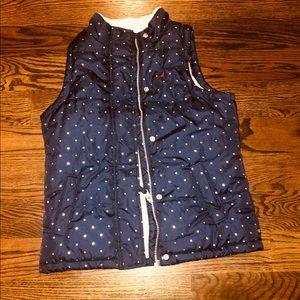 Nautica Girls navy vest size 10